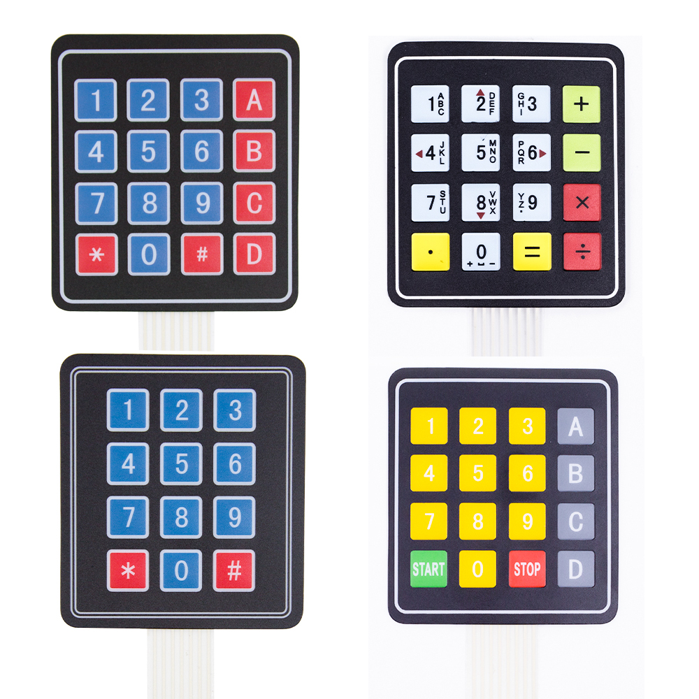 4*3 4*4 1x4 4 Key 16 Key  Matrix Membrane Switch Keypad Keyboard Control Panel SCM Extended Keyboard
