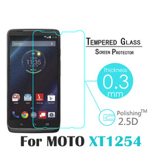 Top selling 0 3mm 2 5D Premium Tempered Glass For Motorola Moto Droid Turbo XT1254 Anti