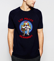 Hot Sale Breaking Bad LOS POLLOS Hermanos Men T Shirt Funny Chicken Brothers 100 Cotton Men