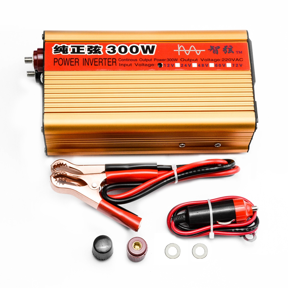 цена на Continuous Power 300W Pure Sine Wave OFF Grid Inverter DC 12V/24V to AC 220V 50HZ Power Converter with Power display/USB Port