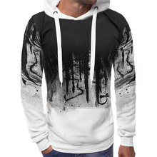Men's Leisure Long Sleeve Cotton Hoodie Man Print Casual Gym Tpos Men Casual Hooded Clothing New 2019 D40