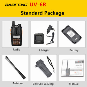 Image 5 - Рация Baofeng для охоты, радиостанция 5 Вт, УВЧ, УКВ, два диапазона, УФ 6R, Любительский радиодиапазон, обновленная рация Baofeng для охоты, высокочастотный приемопередатчик