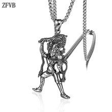 ZFVB Religious Totems Necklace for Men Chain Stainless Steel Silver color Vintage Buddhism Necklaces Pendant Male Jewelry
