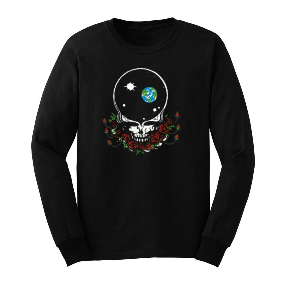 Loo Show Mens Grateful Dead Space Your Face Long Sleeve T-Shirts Casual Men Tee image