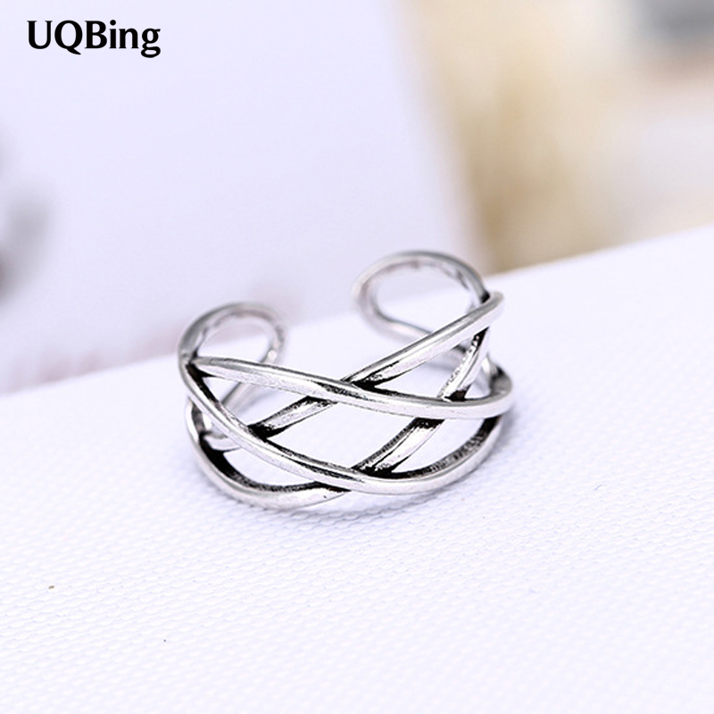 New Arrival Simple 925 Sterling Silver Multi Layer Rings For Women Jewelry Finger Open Rings Free Shipping