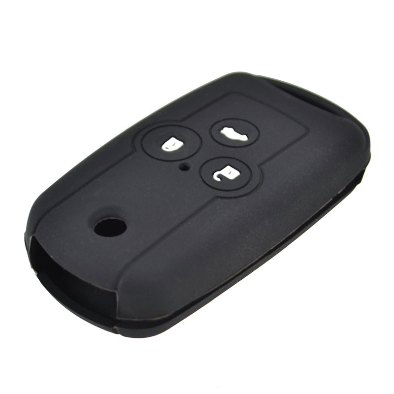 3 Button Silicone Key Cover Case For Honda Accord CRZ ACURA Civic CRV MDX TL TSX