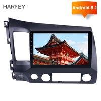 Harfey 2Din 10,1 Inch Android 8,1 автомобилей Радио для 2006 2007 2008 2009 2010 2011 Honda Civic Wifi GPS; Мультимедийный проигрыватель головное устройство
