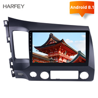 Harfey 2Din 10.1 Inch Android 8.1 Car Radio For 2006 2007 2008 2009 2010 2011 Honda Civic Wifi GPS Multimedia Player Head Unit