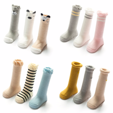 Autumn Winter Terry Thickening Baby Socks Cotton 0-3 Years Old High Tube Loose Mouth Non-slip Plastic Toddler Floor Baby Socks baby shoe socks autumn winter cotton thickened 0 1 3 years old baby learn walk socks non slip soft bottom children floor socks