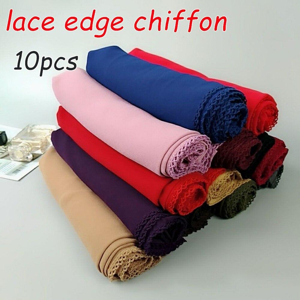 V3 High quality bubble chiffon lace long hijab   wrap   shawls summer   scarf     scarves   180*75cm 10pcs 1lot can choose colors