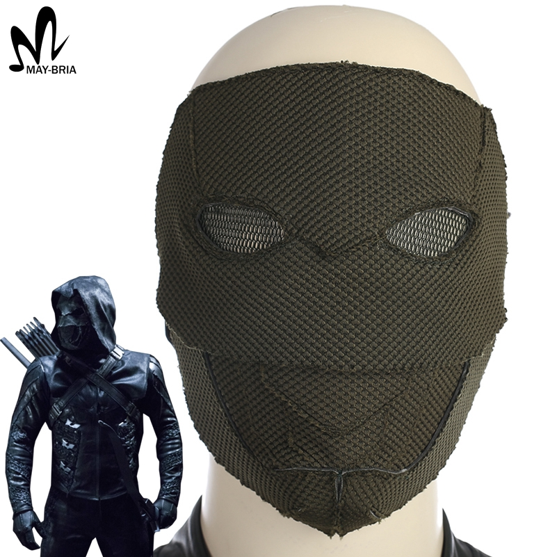 Green Arrow season 5 Prometheus mask Halloween cosplay accessories fancy mask Adrian Chase Prometheus arrow cosplay mask