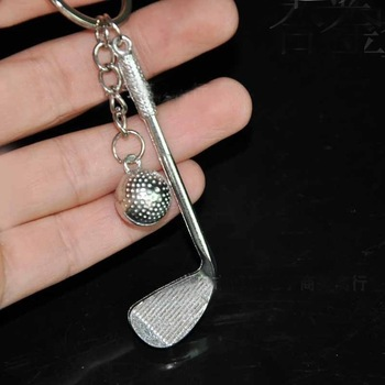 Inel frumos din aliaj de argint din argint pentru minge de golf pentru geantă pungă pandantiv decorare telefon pentru mașină de golf lanț cheie ambarcațiuni cadou suvenir