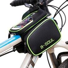 B-Soul сумка непромокаемые сенсорный экран MTB Велоспорт Сумка светоотражающие рамка Топ трубки телефона 5.8 «6.2 «велосипед аксессуары 2017