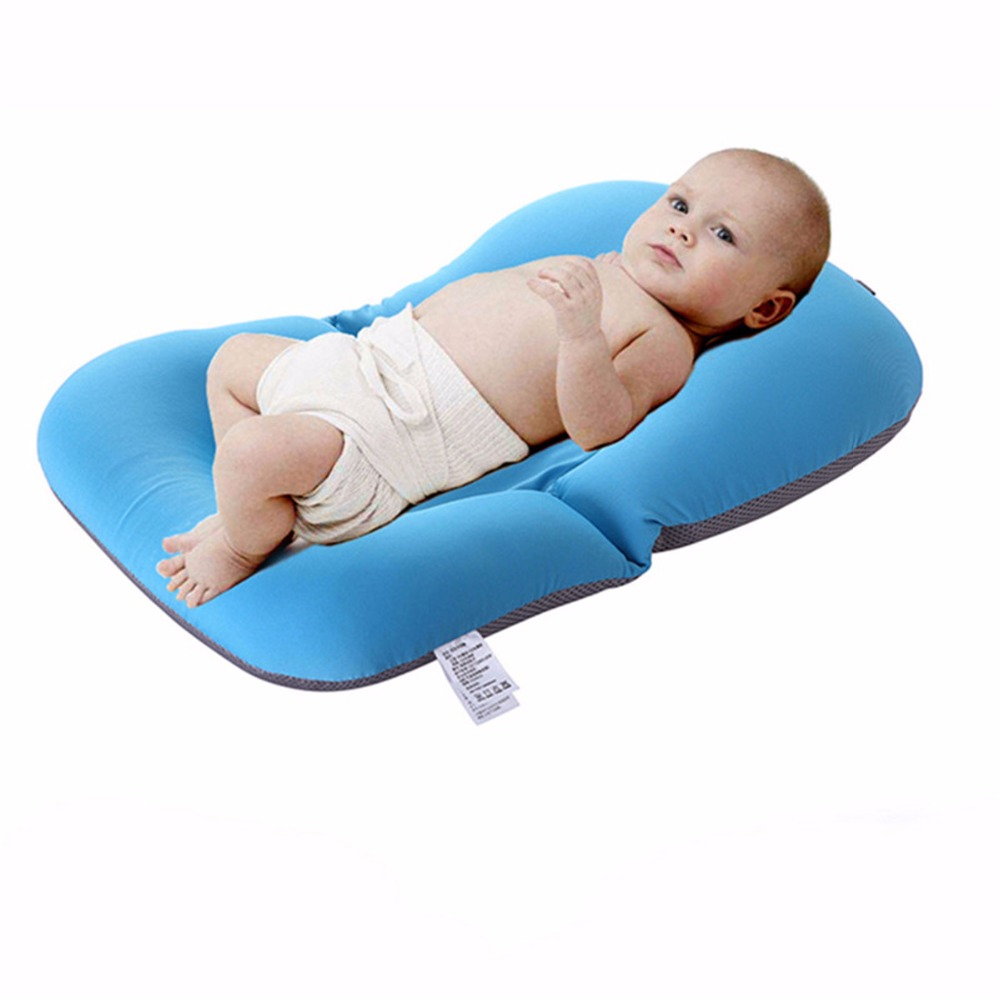 Anti-skid Foldable Baby Bathing Tub Baby Bathtub Shower Cushion Non-Slip Security Infant Seat Support Cushion Shower Pad