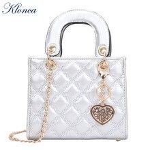 Klonca High Quality PU Leather Female Handbag Classic Diamond Lattice Women Shoulder Bag 2019 New Fashion  Casual Bags