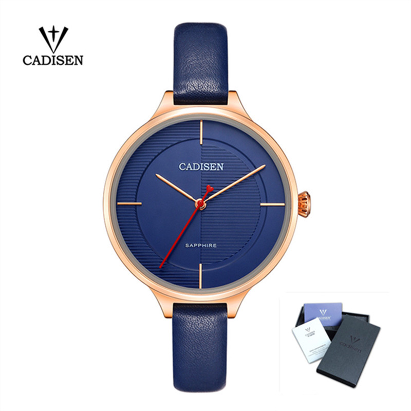 2018 Cadisen Women Luxury Fashion Watches Casual Womens Watch Waterproof Chronograph Ultra-Thin Leather Quartz Wristwatches skmei lovers quartz watches luxury men women fashion casual watch 30m waterproof simple ultra thin design wristwatches 1181