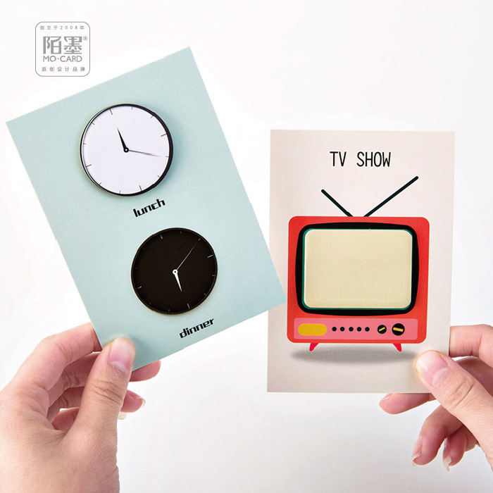 30Pcs/Pack 2018 New Arrival TV Annual Ring Clock Chat Sticky Post It N Times Memo Pad Notebook Sticky School Label Gift M0140