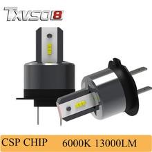 купить TXVSO8 2pcs h7 led car headlight bulbs Kits- 12V With LED csp Chips- 6000K 26000LM 55W/Bulb Front Headlamp led lamp for auto дешево