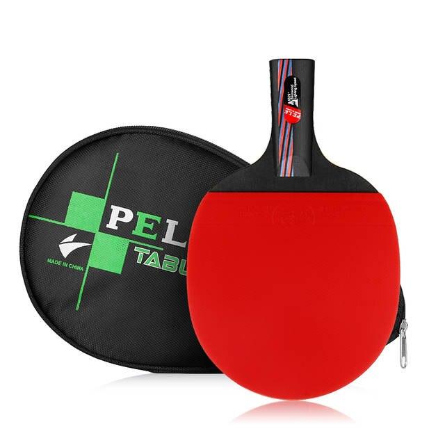 e726c6ec0 placeholder Fibra de carbono profesional raqueta de tenis de mesa hoja de  goma con doble cara granos