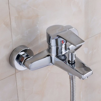 Houmaid Bathroom Mix Water Valve Hot And Cold Water Tap Shower Room Full Copper Single Handle Wall Mounted Bathtub Faucet