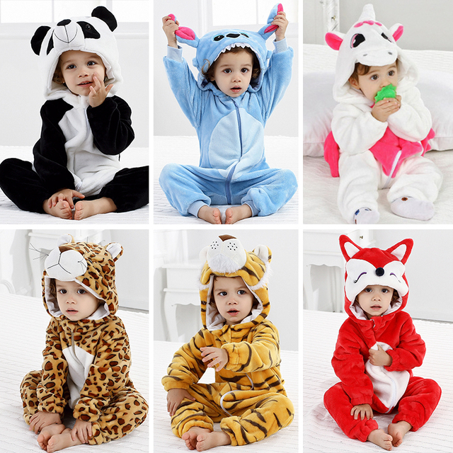 9c03d4aec4ad Baby Pajamas Animal Clothes for Sleeping Girl Rompers Kids Winter ...