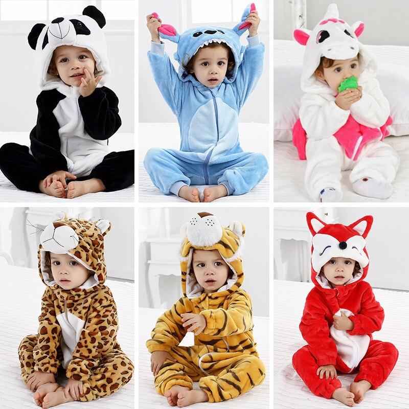Goedhartig Baby Pyjama Animal Kleding Voor Slapen Meisje Rompertjes Kinderen Winter Baby Nachtkleding Jongen Cosplay Cartoon Baby Kinderen Jumpsuits