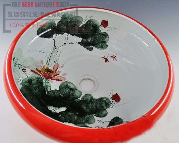 Art oriental ceramic porcelain hand painted bathroom wash basins art ceramic