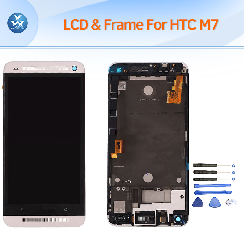 Подробнее о Lcd Screen For HTC ONE M7 Lcd Display With Frame Touch Digitizer Glass Assembly Pantalla 4.7