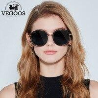VEGOOS Polarized Round Square Sunglasses Women Colorful Lens Brand Designer Fashion Retro Polaroid Sun Glasses For
