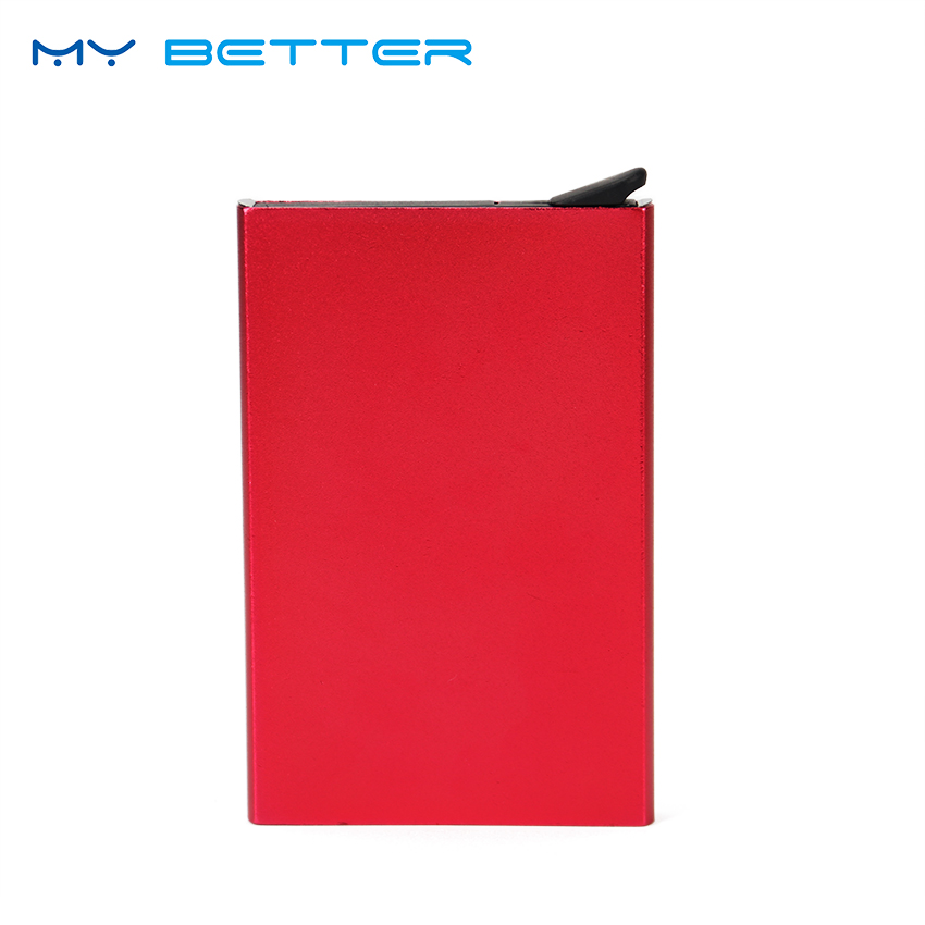 Unisex Automatic Pop Up Business Credit Card Holder Metal Wallet Carte Bank ID Card Holder Case Gift Metal Card Holder 2017 new top brand pu thin business id credit card holder wallets pocket case bank credit card package case card box porte carte