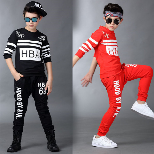 8c1ea2199 Boys Hip Hop Outfit Kids Street wear Dance Costume Kids Boys Clothing Set  for Autumn Spring