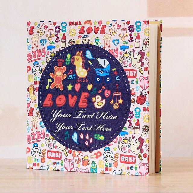 Housse 700 pochettes en cuir Grain 5 pouces | Couverture de grande taille avec cadre Grain, pour anniversaire mariage et naissance de bébé, vacances commémoratives, Photo damour