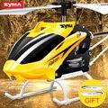 Original Syma W25 2 CH 2 Canales de Interior Mini RC Helicóptero con Giroscopio Resistente Al Choque juguetes Del Bebé, amarillo Envío Libre