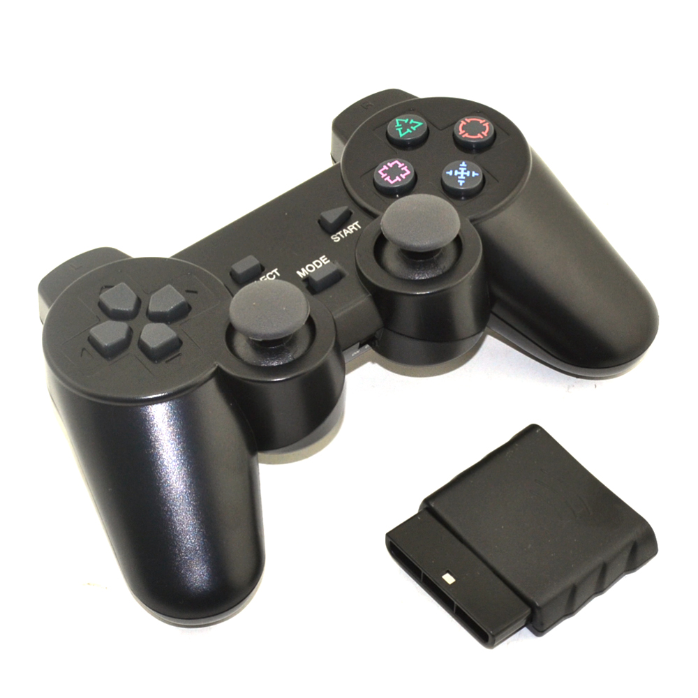 цена 10pcs a lot Black 2.4G Wireless gamepad controller with Receiver for PS2