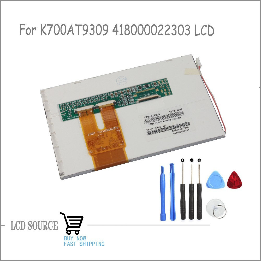 OEM High Quality 7 Inch K700AT9309 418000022303 TFT LCD Display Panel Glass Replacement Parts With Free Tools!!
