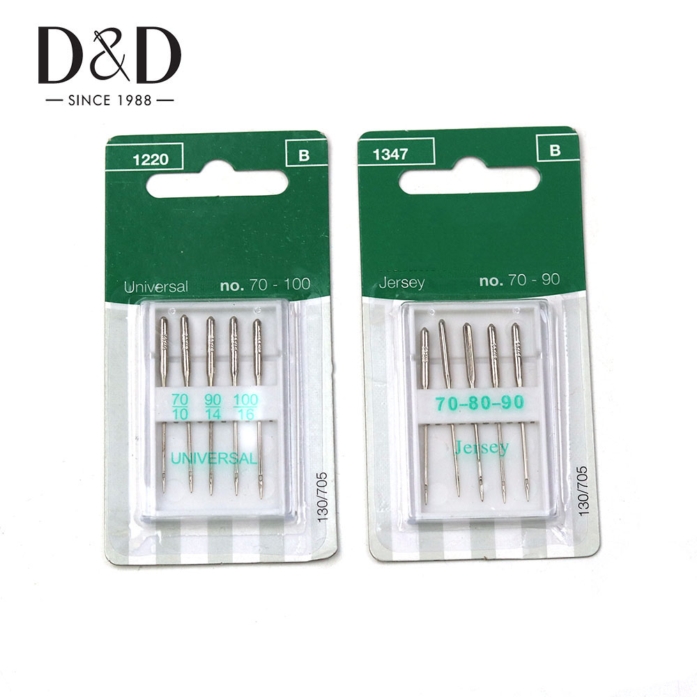 5pcs Sewing Machine Needles Stainless Steel Jersey/universal Sewing Needles Ball Point Head Sewing Accessories Tools