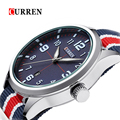 Curren мода мужчины кварцевые час дата часы мужчины нейлон ремень часы мужские спортивные военная армия наручные часы Montre Homme 2016