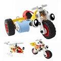 Crianças Peças de Blocos de Construção de brinquedos de Montar Brinquedo Do Jogo Do Cérebro brinquedos Educativos Helicóptero Modelo de Construção Kits Ferramenta