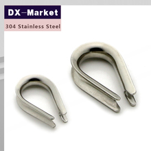 20mm , 2pcs/lot , sus304 stainless steel wire rope thimbles , Wire rope accessories