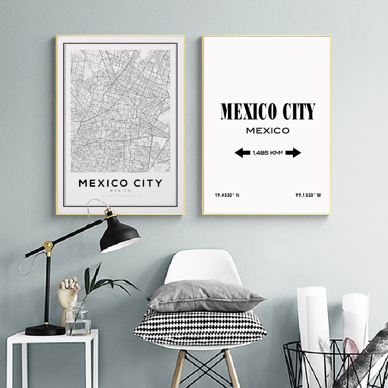 Mexico City Wall Art Prints