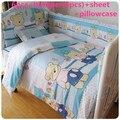 Promoción! 6 / 7 unids cuna para bebés parachoques juego de cama, funda nórdica, 120 * 60 / 120 * 70 cm