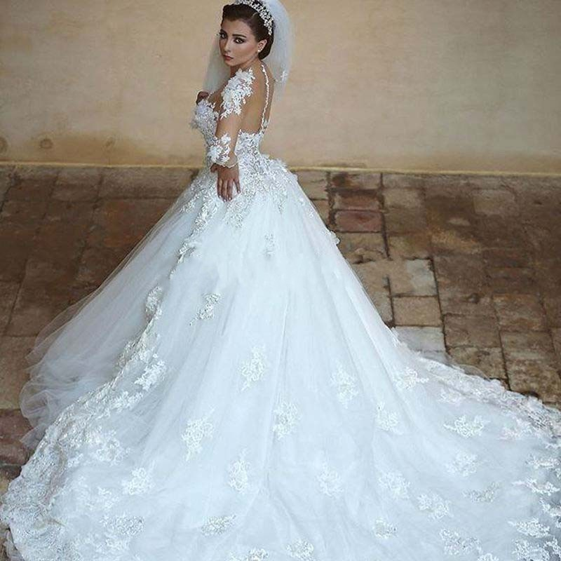 Popular Long Sleeve Wedding Gowns-Buy Cheap Long Sleeve Wedding ...