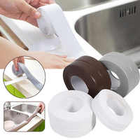 Decorative Caulk Strip Self-Adhesive Sealing Tape Anti-Mildew Waterproof Edge Protector For Bath Shower Floor Kitchen Stove Sink