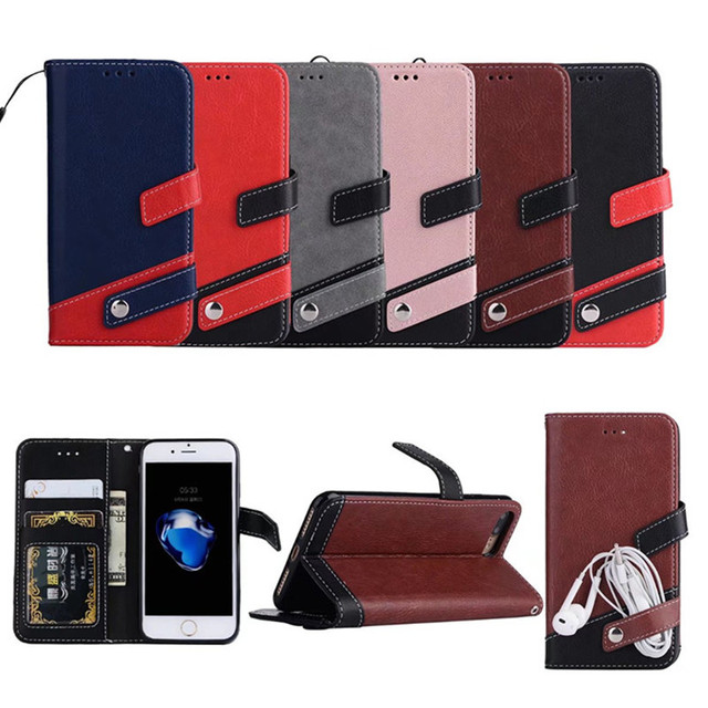 c14a073356 Premium Wallet Case for iPhone 7 Color Matching Leather Wallet Cover Flip  Cases for iPhone 7 Folio Kickstand Phone Case