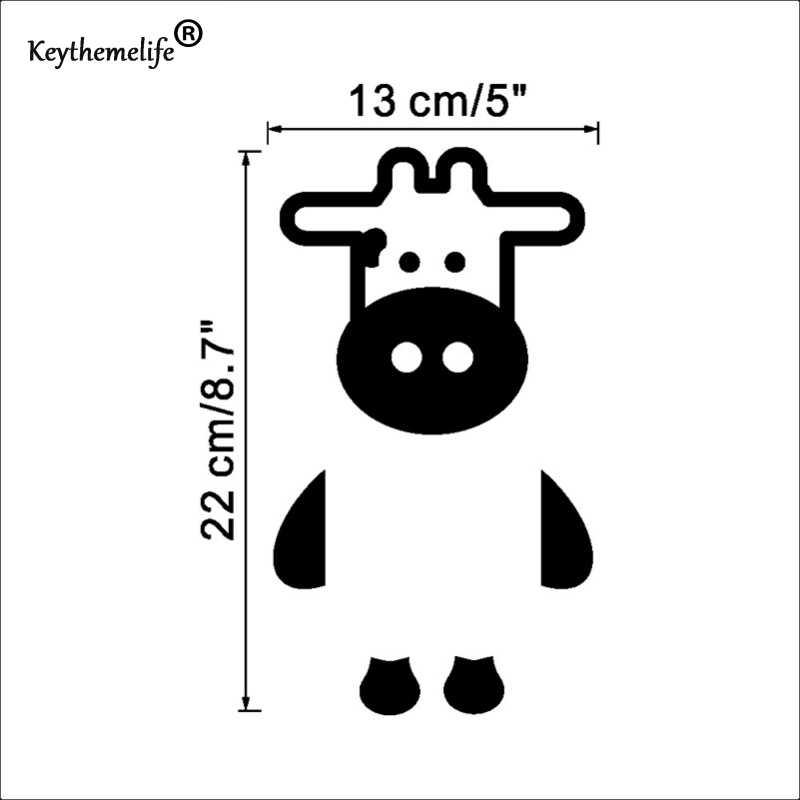 Keythemelife Забавные милые кошки корова Декоративные наклейки для настенных выключателей наклейки украшения спальни домашняя внутренняя отделка Бесплатная доставка 11EA