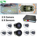 New Car Video Parking Radar 6 Sensor With Front and Rear View Camera For Car DVD Monitor Video Player