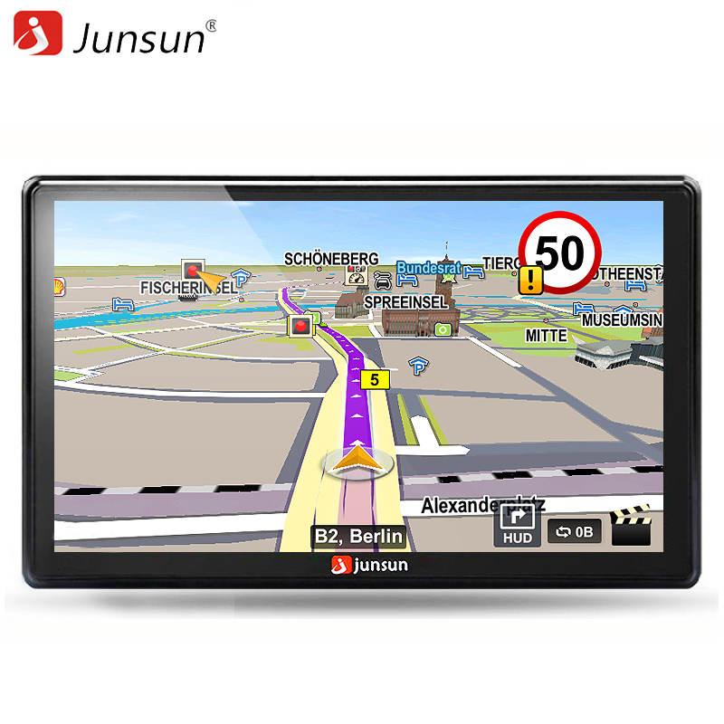 Junsun 7 inch HD Car GPS Navigation FM Bluetooth AVIN  Navitel Europe Map Free Upgrade Sat nav Automobile Gps Navigators gps навигатор navitel n500 5 авто 4гб navitel серый