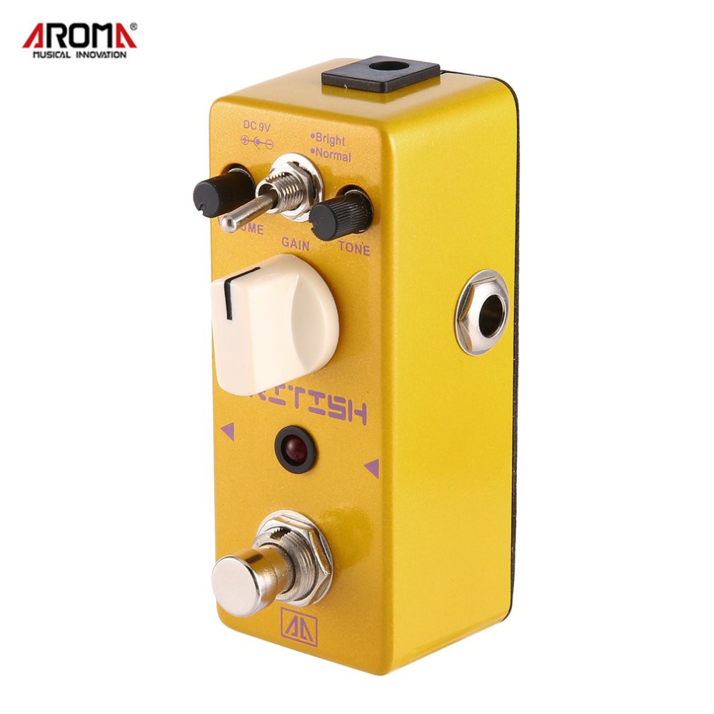 AROMA APN-5 Classic British Style Distortion Guitar Effect Pedal 2 Modes Aluminum Alloy Body With True Bypass LED Indicator aroma adl 1 aluminum alloy housing true bypass delay electric guitar effect pedal for guitarists hot guitar accessories