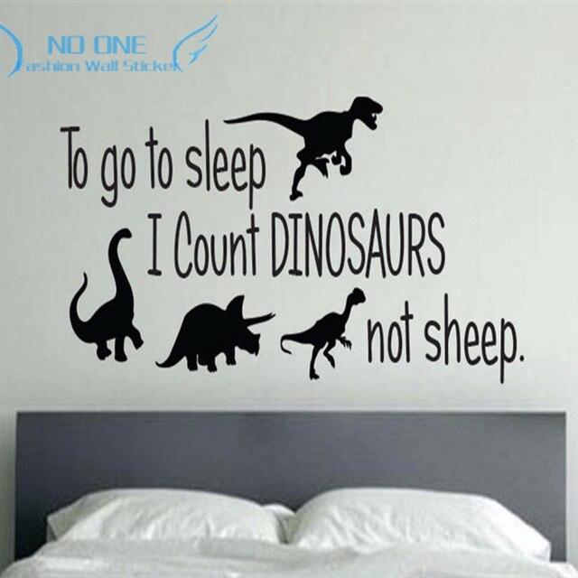 Dinosaurus slaapkamer Decor, Wall Art Muursticker Kids voor Baby ...