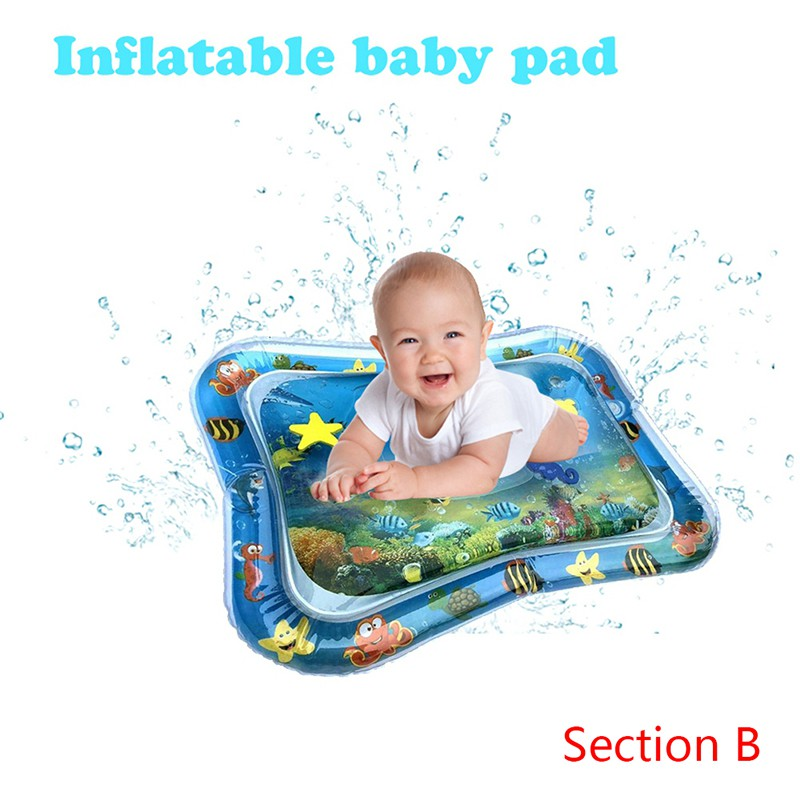 Baby Kids Water Play Mat Toys Inflatable Thicken PVC Infant Fun Time Playmat Toddler Activity Play Center Water Mat For BabiesBaby Kids Water Play Mat Toys Inflatable Thicken PVC Infant Fun Time Playmat Toddler Activity Play Center Water Mat For Babies